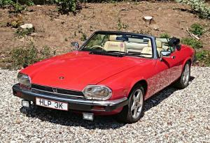 Red convertible jaguar XJS for sale