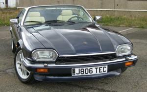 Front view of a dark XJS