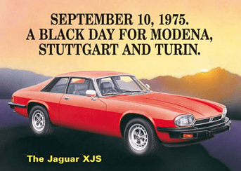 Original launch poster: Pre-HE XJS cars will be tax exempt from April 2016