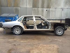 X300 Saloon stripped inside and out